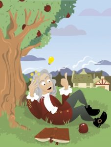 21759908 - a vector cartoon, representing sir isaac newton